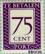 Suriname SU PT45  1950 Port 75 cent  Gestempeld