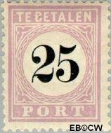 Suriname SU PT5  1886 Port 25 cent  Gestempeld