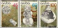 Aruba AR 80#82  1990 Archeologische vondsten  cent  Postfris