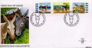 Aruba AR E79  1999 Ezels  cent  FDC zonder adres