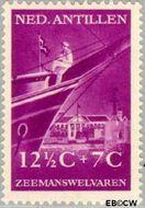 Nederlandse Antillen NA 241  1952 Zeemanswelvaren  12½+7 cent  Gestempeld