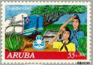 Aruba AR 108  1992 Solidariteit 55+30 cent  Gestempeld