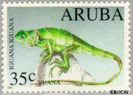 Aruba AR 128  1993 Bedreigde dieren 35 cent  Gestempeld