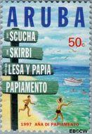 Aruba AR 188  1997 Jaar van het Papiamento 50 cent  Gestempeld