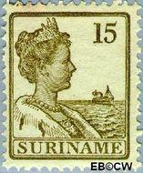 Suriname SU 90  1915 Scheepjes-type 15 cent  Gestempeld
