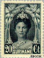 Suriname SU 121  1927 Gewijzigd jubileum-type 20 cent  Gestempeld