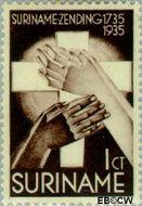 Suriname SU 151  1935 Zendingswerk 1+½ cent  Gestempeld