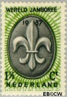 Nederland NL 293  1937 Wereld Jamboree 1½ cent  Gestempeld