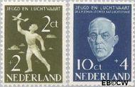 Nederland NL 647#648  1954 Nationaal Luchtvaartfonds   cent  Gestempeld