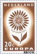 Nederland NL 828  1964 C.E.P.T.- Bloem 20 cent  Gestempeld