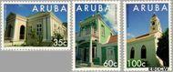 Aruba AR 151#153  1995 Gebouwen  cent  Gestempeld