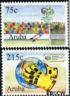 Aruba AR 361#362  2006 WK Voetbal  cent  Gestempeld