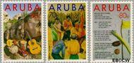 Aruba AR 122#124  1993 Folklore  cent  Gestempeld