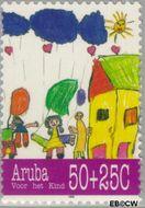 Aruba AR 168  1995 Kindertekeningen 50+25 cent  Gestempeld