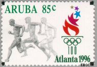 Aruba AR 178  1996 Olympische Spelen Atlanta 85 cent  Gestempeld