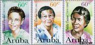 Aruba AR 181#184  1996 Bekende vrouwen  cent  Gestempeld
