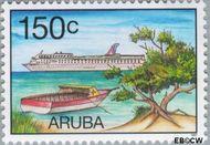 Aruba AR 199  1997 Cruises 150 cent  Gestempeld