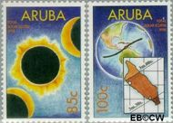 Aruba AR 209#210  1998 Zonsverduistering  cent  Gestempeld