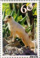 Aruba AR 229  1999 Honden 60 cent  Gestempeld