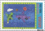 Aruba AR 259  2000 Kindertekeningen 100+50 cent  Gestempeld