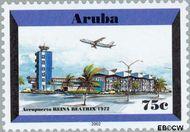 Aruba AR 279  2001 Luchthaven 75 cent  Gestempeld