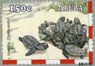 Aruba AR 309  2003 Schildpadden 150 cent  Gestempeld