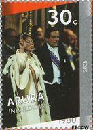 Aruba AR 339a  2005 Regeringsjubileum Koningin Beatrix 30 cent  Gestempeld