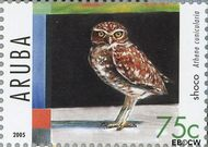 Aruba AR 344  2005 Roofvogels 75 cent  Gestempeld