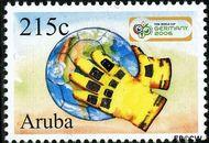 Aruba AR 362  2006 WK Voetbal 215 cent  Gestempeld
