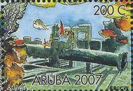 Aruba AR 380a  2007 Wrakken in het rif 200 cent  Gestempeld