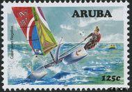 Aruba AR 386  2007 Catamaran regatta 125 cent  Gestempeld