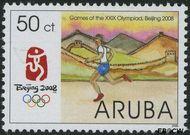 Aruba AR 396  2008 Olympische Spelen Beijing 50 cent  Gestempeld