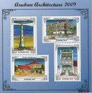 Aruba AR 424  2009 Architectuur  cent  Gestempeld