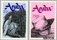 Aruba AR 95#96  1991 Handenarbeid  cent  Postfris