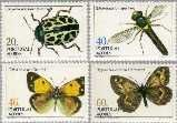 azo 369#372 Postfris 1985 Insecten