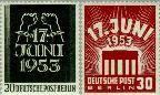 Berlin ber 110#111  1953 17 juni 1953  Postfris