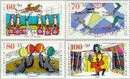 Berlin ber 838#841  1989 Circus  Postfris