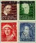 Bundesrepublik BRD 143#146  1951 Bekende personen  Postfris