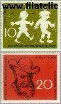 Bundesrepublik BRD 281#282  1958 Busch, Wilhelm  Postfris