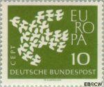 Bundesrepublik BRD 367y#  1961 C.E.P.T.- Vogels in vlucht  Postfris