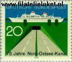 Bundesrepublik BRD 628#  1970 Nord- Ostsee-Kanal  Postfris