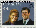 Gibraltar gib 512#  1986 Prins Andrew en Sarah- Huwelijk  Postfris