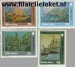 Gibraltar gib 624#627  1991 Schilderijen  Postfris