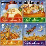 Gibraltar gib 745#748  1995 Kerstman  Postfris