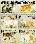 Gibraltar gib 787#792  1997 Katten  Postfris