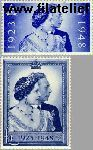 Groot-Brittannië grb 233#234  1948 Koning George VI- Huwelijksjubileum   Postfris