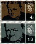 Groot-Brittannië grb 384#385  1965 Churchill, Sir Winston  Postfris