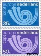 Nederland NL 1030#1031  1973 C.E.P.T.- Posthoorn  cent  Gestempeld