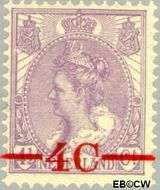 Nederland NL 106  1921 Koningin Wilhelmina- 'Bontkraag' 4#4½ cent  Gestempeld