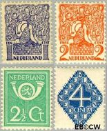 Nederland NL 110#113  1923 Diverse voorstellingen   cent  Gestempeld